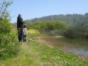 My dad and son getting in some fishing at some of the smaller water holes near the ocean.
